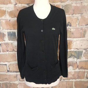 Lacoste Button Down Knit Cardigan Sweater sz 10 42